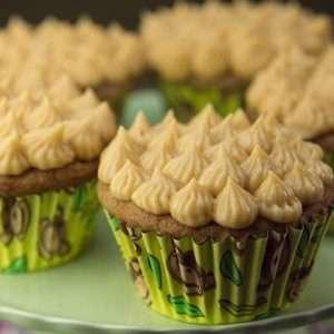 Marijuana Recipes - Banana Caramel Cupcakes with Dulce de Leche Icing