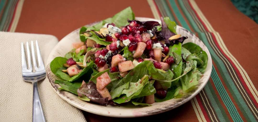 Marijuana Recipes: Mixed Green Salad with Pomegranate Vinaigrette