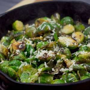 Marijuana Recipes - Parmesan Lemon Haze Roasted Brussels Sprouts