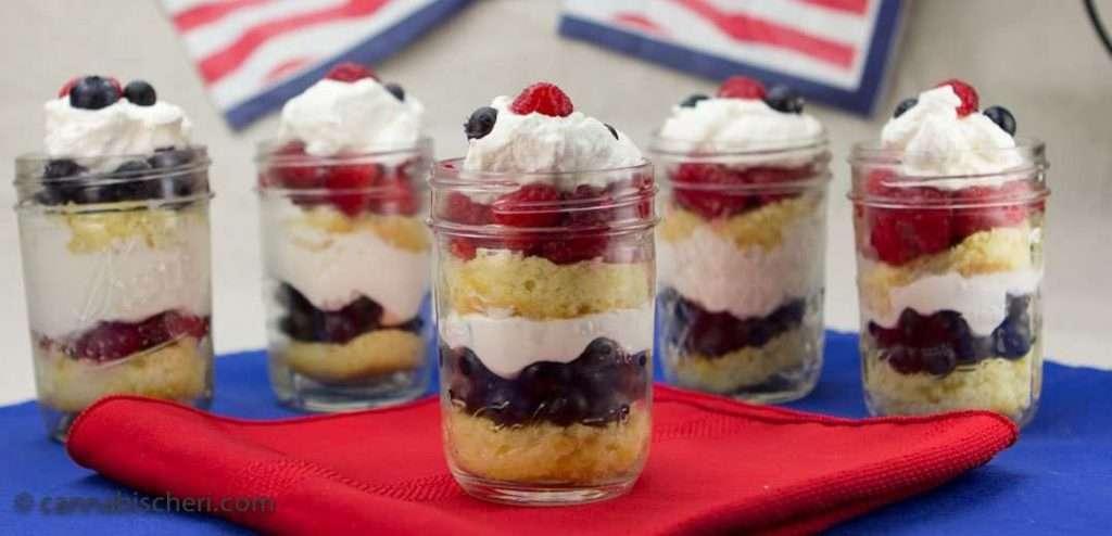 Marijuana Recipes -- Lemon Berry Trifles in a Jar
