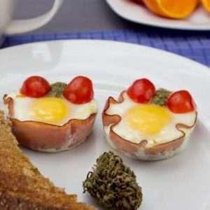 marijuana recipes, baked egg cups