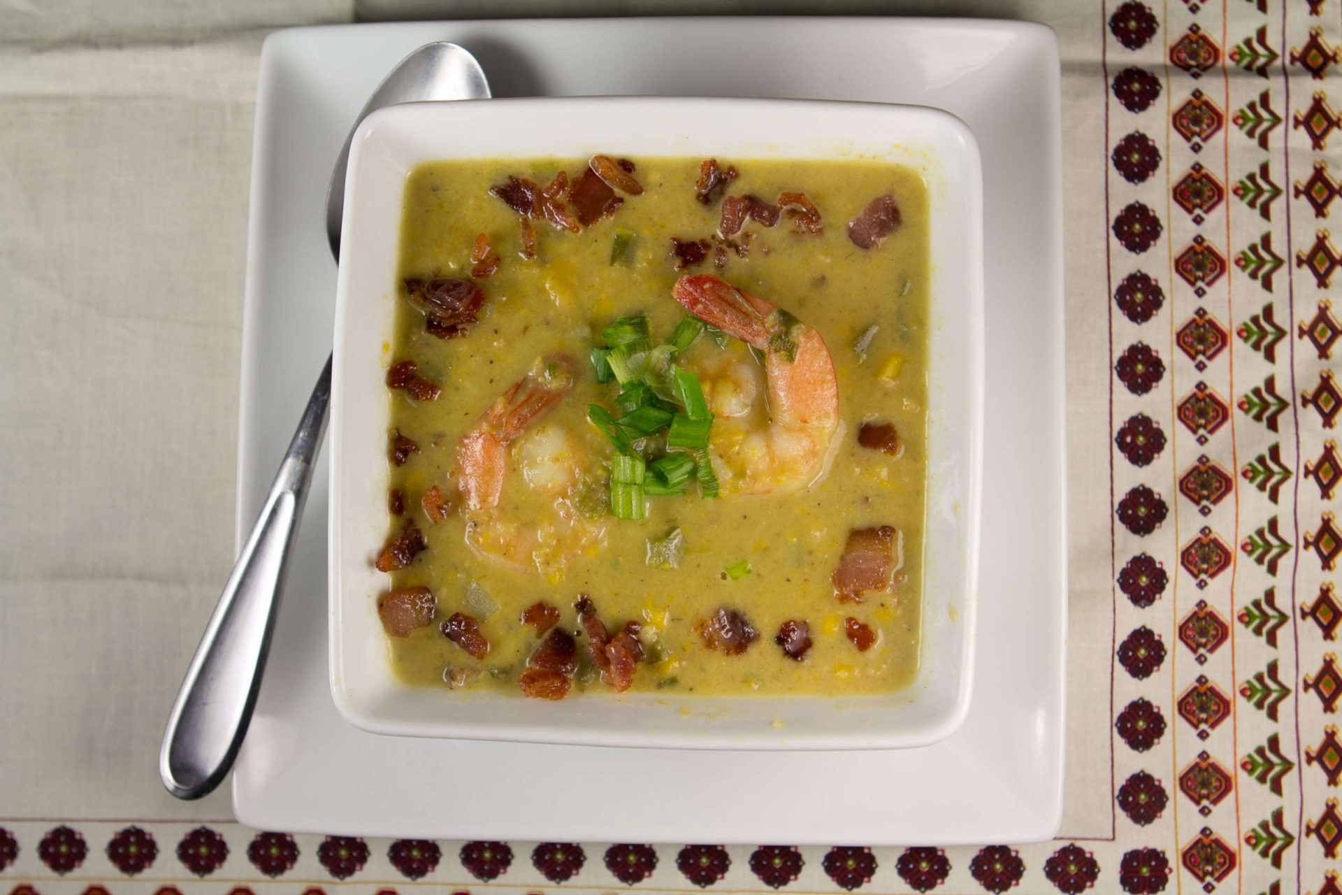 Marijuana Soups: Corn and Green Chile Chowder with Shrimp