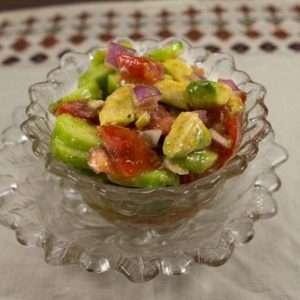 Marijuana Recipes - Avocado, TOmato, and Cucumber Salad