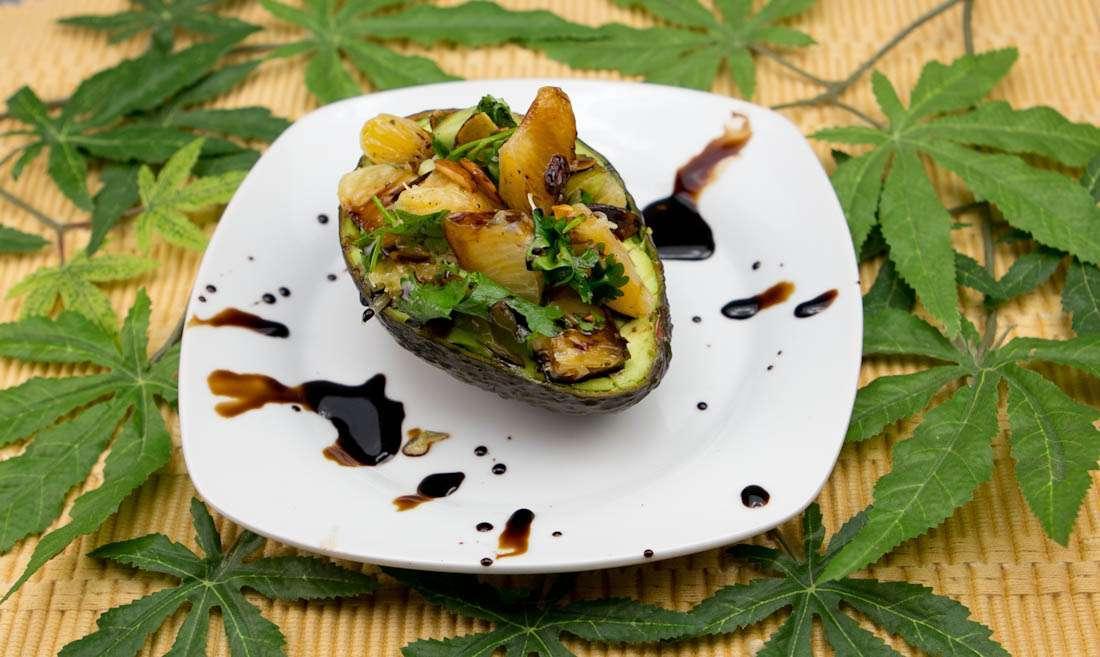 Marijuana Recipes: Orange, Almond Stuffed Avocado