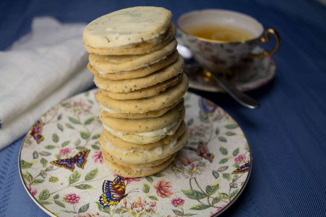 Marijuana Cookies -- Lemon Haze Poppyseed Cookies with Cream Cheese Filling
