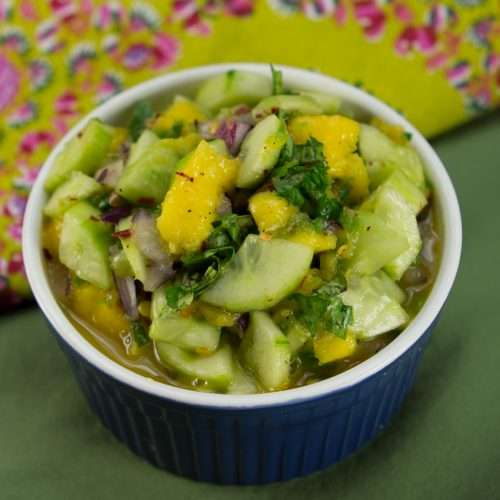 Marijuana Recipes -- Cannabis Cucumber and Mango Salad