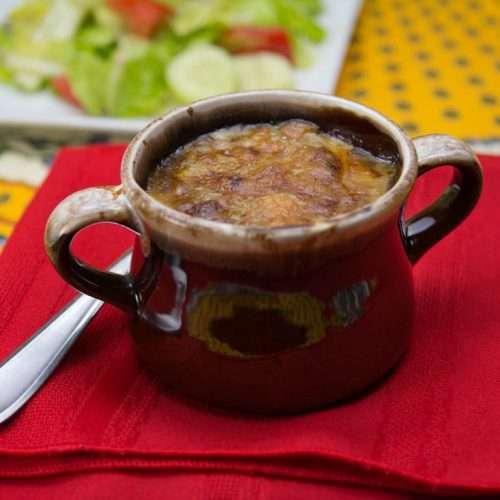 Marijuana Infused French Onion Soup au Gratin