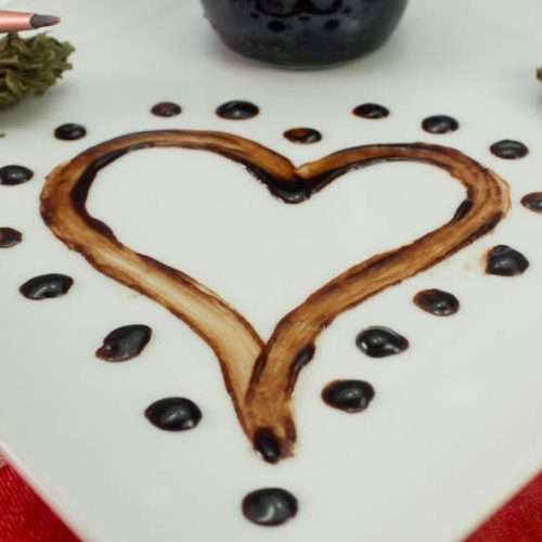 Marijuana Edible Chocolate Body Paint