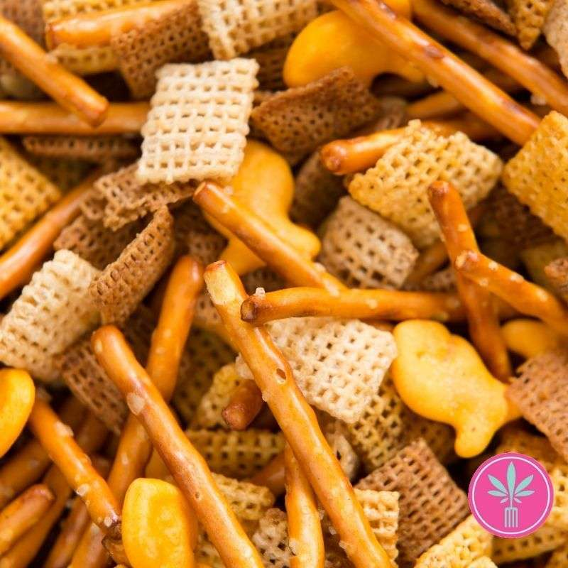 Cannabis Snack - Pot Party Mix with Chex Cereal and Pretzels