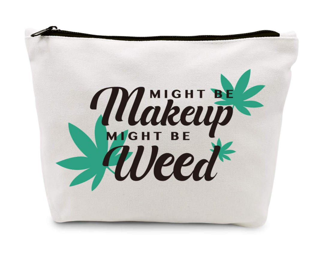 might be makeup, might be weed cosmetic pouch
