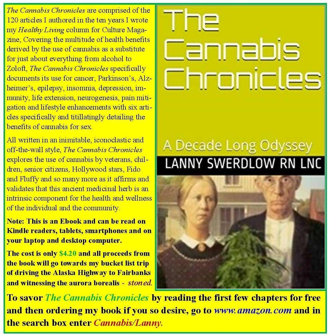 The Cannabis Chronicles by Lanny Swerdlow, RN, LNC