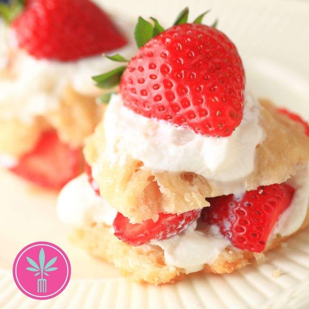Cannabis Strawberry Shortcakes recipe photo