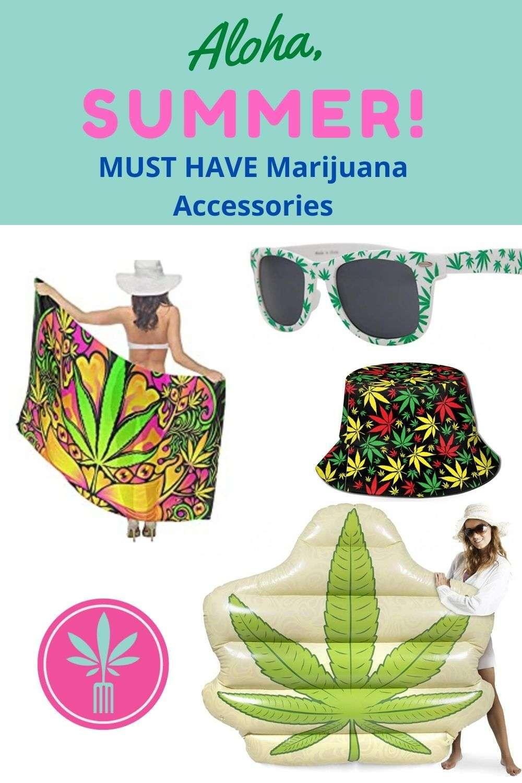 Marijuana Themed Summer Accessories